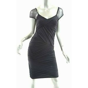 Wolford Black Crazy Tulle Bodycon Dress XS